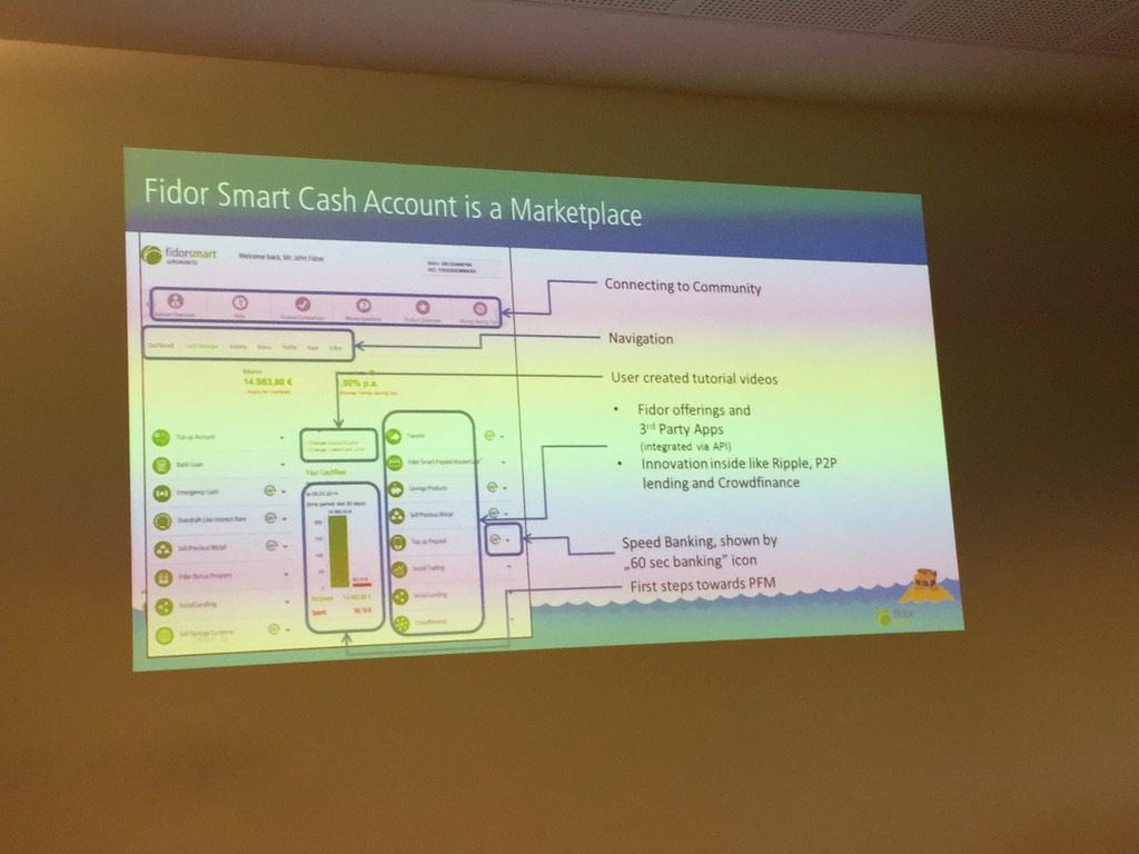 Fidor Bank zeigt was eine neue Bank kann  #whatthefintech http://t.co/34d5NSicDo
