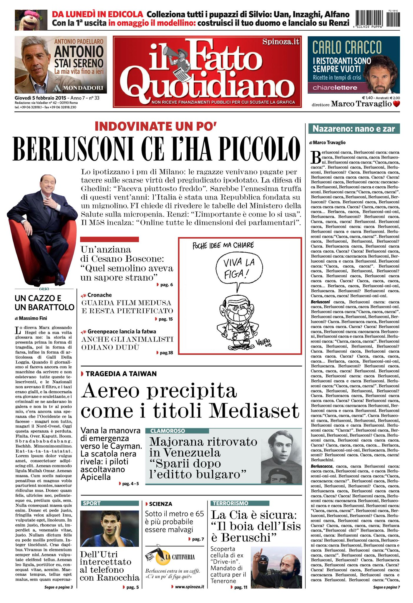 Marco Travaglio è il nuovo direttore del Fatto Quotidiano: questa la prima pagina del nuovo corso del giornale http://t.co/gTrYqiaylW