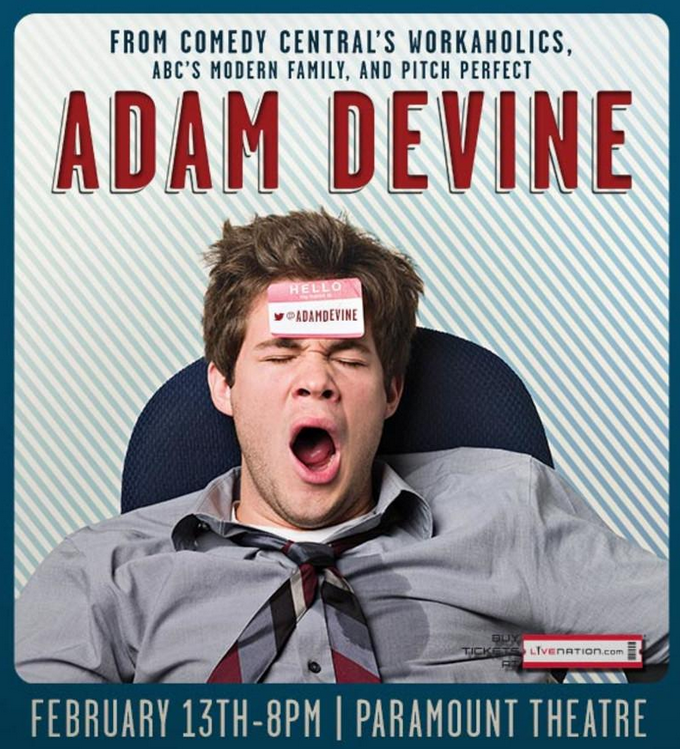 Hope all you workaholics are ready for @ADAMDEVINE! http://t.co/HC6iYgOScz