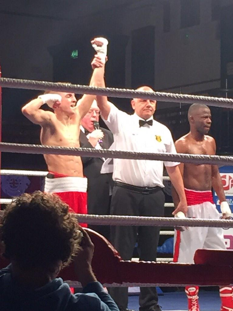 Won tonight in my WSB Debut, Won every round and got better as it went on Thanks everyone for your support x #Winning http://t.co/IUwlYpe8Px
