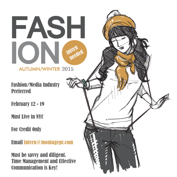NYFW Internship; send cover letter & resume ASAP! http://t.co/G0YJ6uPyXg