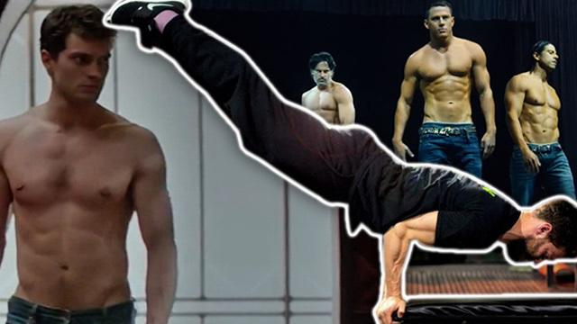 Magic Mike vs. Jamie Dornan: all-out ab WARFARE!!