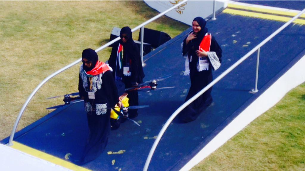 A team of female students in Dubai just flew a drone (for good) to dissipate fog, a big issue in the city #UAEd4g http://t.co/OxrXDD8Myu