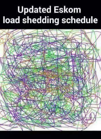 NEW and (finally) accurate load shedding schedule from Eskom. http://t.co/IVvD7TcXMb