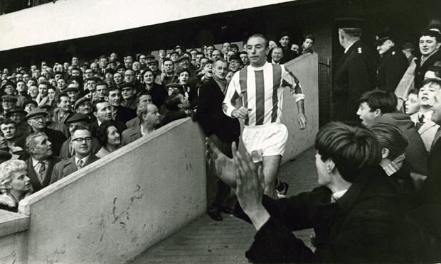 50 year-old Stan takes to the pitch for his final league game for Stoke against Fulham...50 years ago today. #SCFC http://t.co/gp2aiPJPBi
