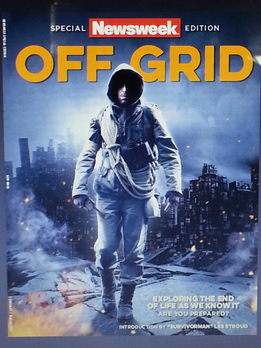 Don't let the cover fool you! This is not another Doom/Gloom magazine @Newsweek Special Edition: OffGrid #PrepperTalk http://t.co/lw7B3ks043