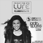 RT @LureHollywood: Big news! @JordinSparks is our special guest TONIGHT for #GrammyWeekend x #LUREFRIDAYS! #NoAir #OneStepAtATime http://t.…