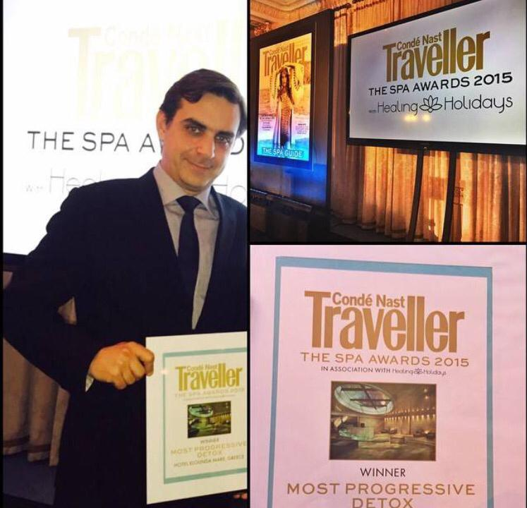 Spa Awards 2015 @cntraveller : Six Senses Spa at Elounda : Most progressive detox spa in the world http://t.co/ivlHJ1cUtI