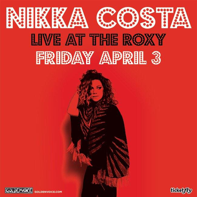 Tickets to my Roxy show on 4/3 available now: https://t.co/G6kjeMIdX8 http://t.co/nmSbPyD0oM