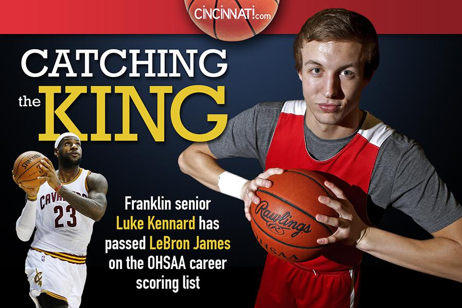 With 3-pointer in 3Q against Brookville, Franklin's Luke Kennard surpassed LeBron James in OHSAA career scoring. http://t.co/ZChfw2DMOO