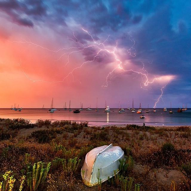 Lightning storm over Dunsborough, Western Australia. Perfectly times shot from MatadorN r…