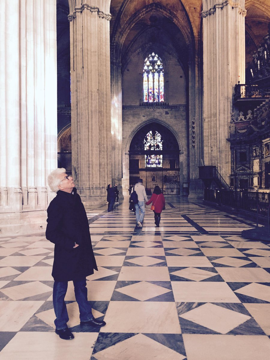 Awestruck in Seville's titanic cathedral. http://t.co/Zf5zigzzrK