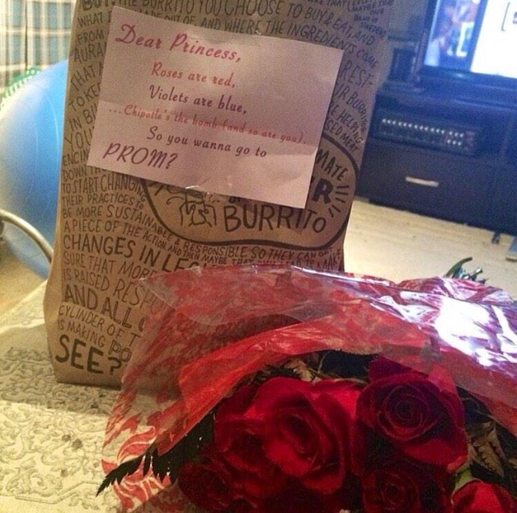 A Chipotle And Flowers Proposal Is An Automatic Yes Scoopnest