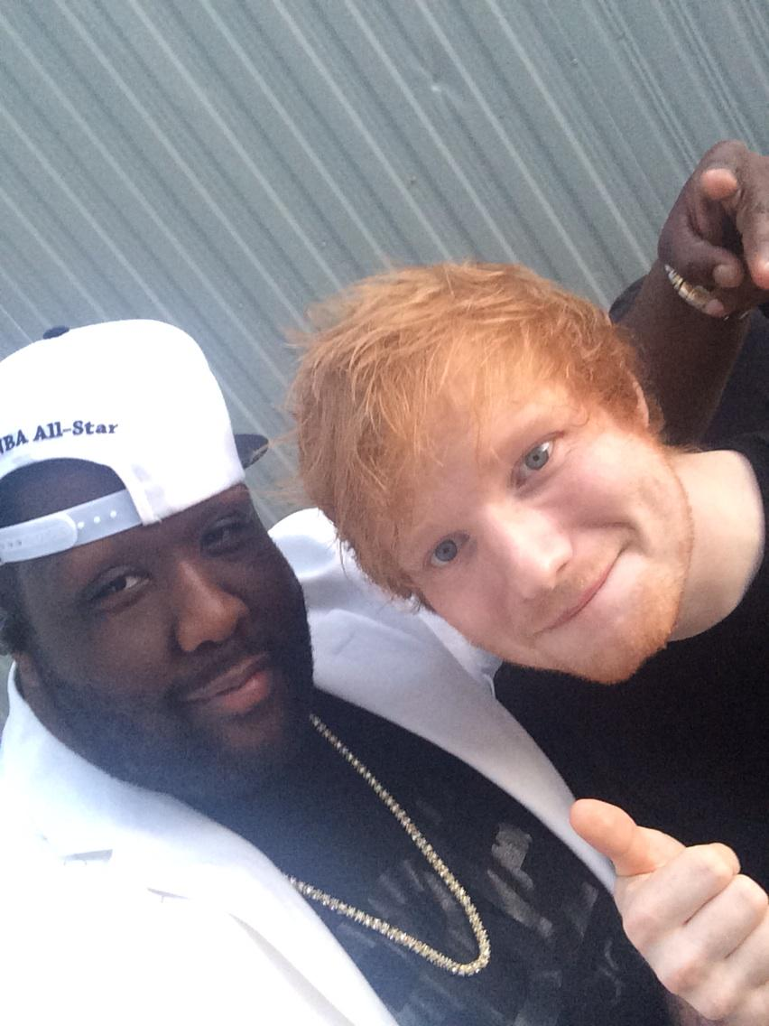THIS DUDE @edsheeran is Hilarious!! LOOK OUT FOR US 2moro on 57th Ann #Grammys!!! #BBE http://t.co/5gswcbvcPS