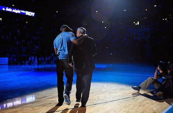 These 2 together in #TarHeel #BlueHeaven #RIP #DeanSmith #StuartScott #TarHeelFamily http://t.co/tN3gRiGnjC