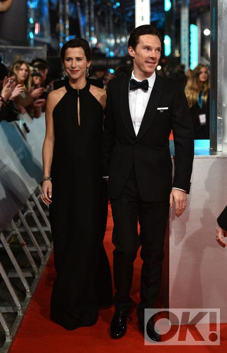 Check out BAFTA nominee Benedict Cumberbatch and the gorge Sophie Hunter on the red carpet: