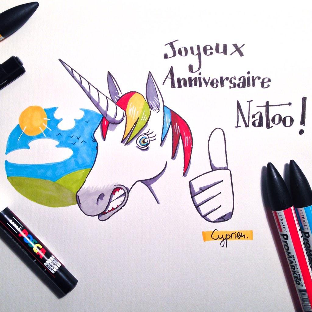 Petit dessin pour l 39 anniversaire de nato o - Dessin de cyprien ...