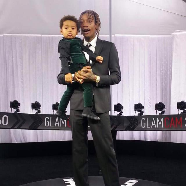Wiz Khalifa takes his son Sebastian for a spin in the GlamCam360... Too cute!