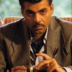 Karan Johar's look from #BombayVelvet. He plays the villain in the film... http://t.co/O3AMQmXt73