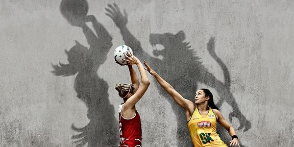 Very cool @netballworldcup shadow art depicting inner strength and the battles on court. #NWC2015 http://t.co/TELPxygiJg