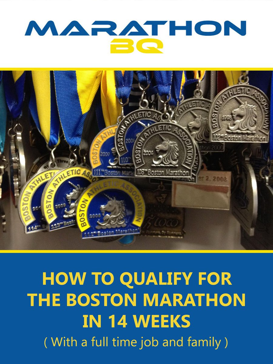 """If you're qualification curious…my new book-> """"How to Qualify for Boston in 14 weeks..."""" http://t.co/wz8D30OWSx http://t.co/NueTbhniia"""