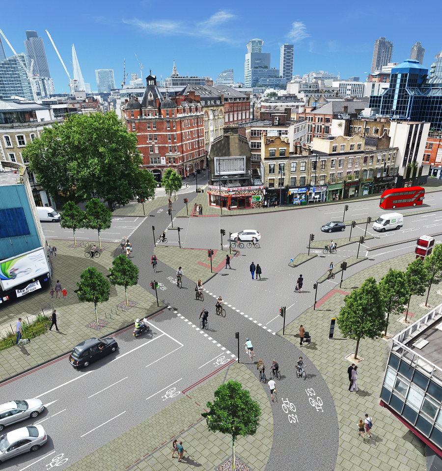 London's latest proposal for a 7-mile bikeway into the heart of the city: https://t.co/hIJfttg0j8 ht @citycyclists http://t.co/MetqqsZ5Dm
