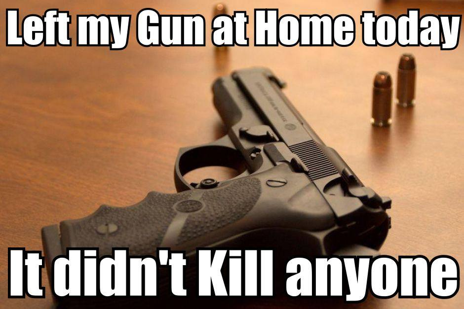 Retweet if your Gun hasn't ever killed anyone either. http://t.co/BGx9JdjRBN