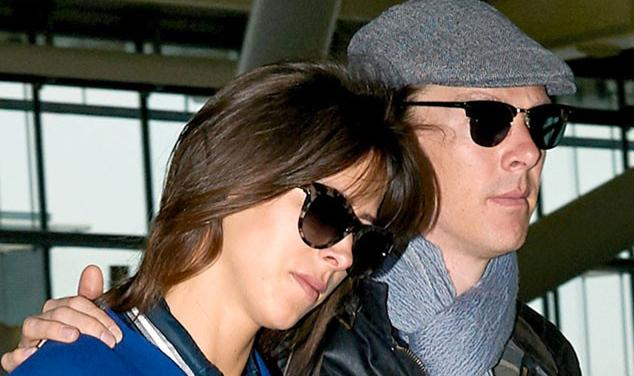 Here's Benedict Cumberbatch & new wife Sophie Hunter post-wedding - look at those rings!
