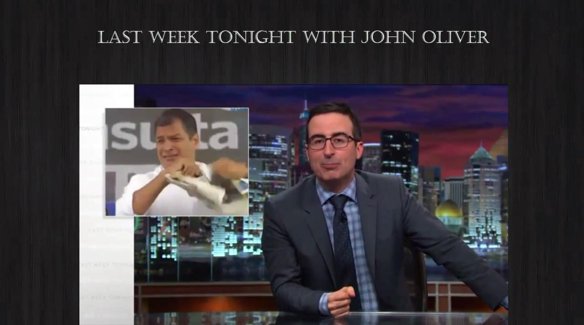 El comediante #JohnOliver se burló de #RafaelCorrea en su programa. http://t.co/97fGRTsEwd http://t.co/x8PUzBvoQ8