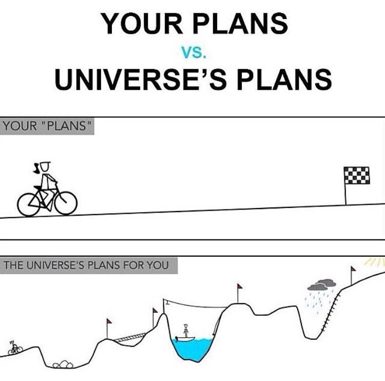 I've learned throughout my life that the path 2 ur goals is not always what u plan. Stay focused and enjoy the ride! http://t.co/csUANdzIPO