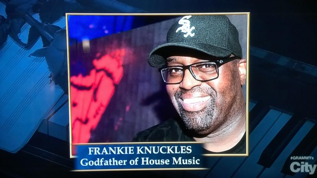 Thank you @TheGRAMMYs for recognising Frankie Knuckles (@FKAlways), the Godfather of House. #Grammys2015 http://t.co/gYUeU8jTYB