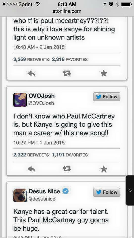 Too funny to be true. But then again it is. Wow. #paulmccartney http://t.co/fvOmBS4w5T