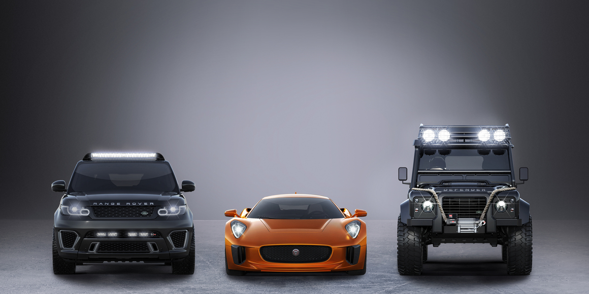 We're thrilled to announce the new @007 film, #SPECTRE, will feature the Range Rover Sport SVR & a Defender Big Foot. http://t.co/o6tK77iNvd