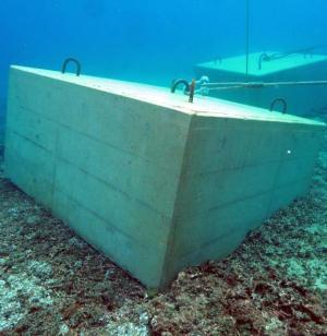 20トンブロックが海底のサンゴ礁にめり込んでいる。しかも基地本工事ではなく、防衛局が市民の抗議を防ぐフロートを固定するための設置。県が岩礁破砕を許可した埋め立て区域より外側という暴挙。>http://t.co/frZJ9Mpriz http://t.co/hey5bmbriA