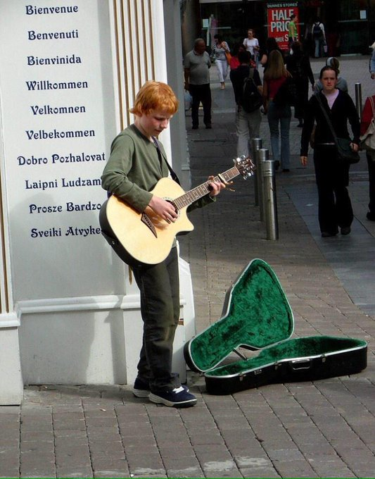 Artists, never give up. This is Ed Sheeran.  Happy birthday to the king