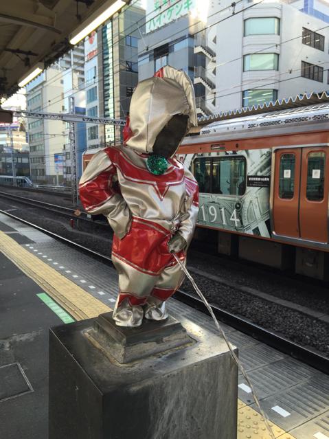 浜松町のウルトラ小僧見にきた。これは、スタンプラリーがらみかな? http://t.co/QKxEZ4qguY