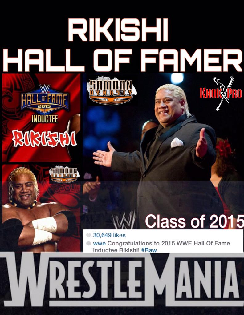 I'm honored to be inducted into the #HOF by the #WWE & included with such great company! #SamoanDynasty http://t.co/9v8sIW0cBH