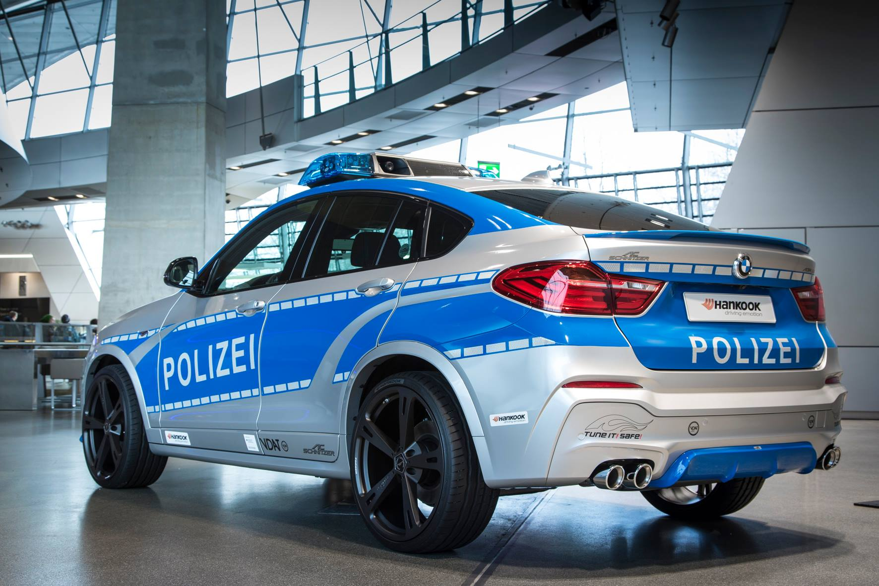 Woop-woop! It's the sound of the police. The #BMW #X4 2.0i xDrive show car by AC Schnitzer. @BMW_Welt http://t.co/ea6tYngCx4