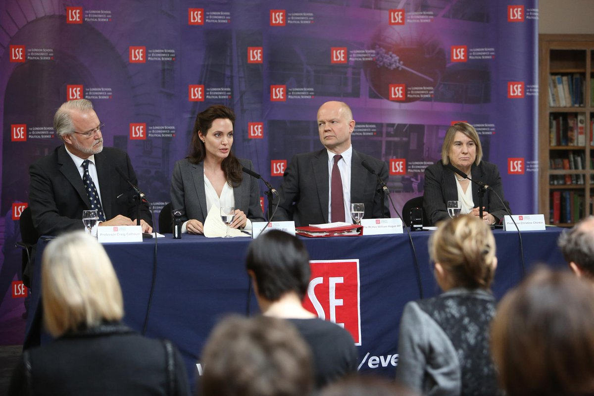 Angelina Jolie Pitt, @WilliamJHague @craigjcalhoun and Christine Chinkin open Women, Peace and Security Centre at LSE http://t.co/vMAUgj7KJk