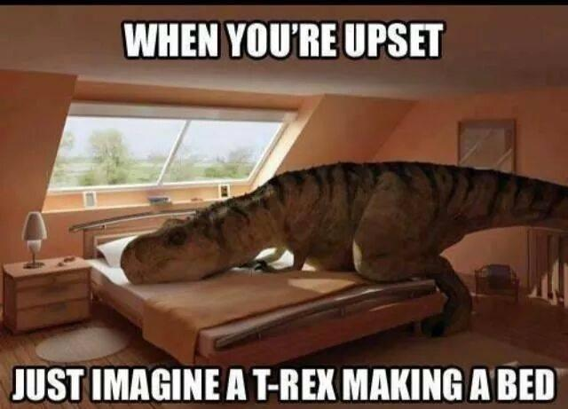 What I tell myself everyday while I sit here in the hospital ;) #KeepYourChinUp T-rex http://t.co/xY