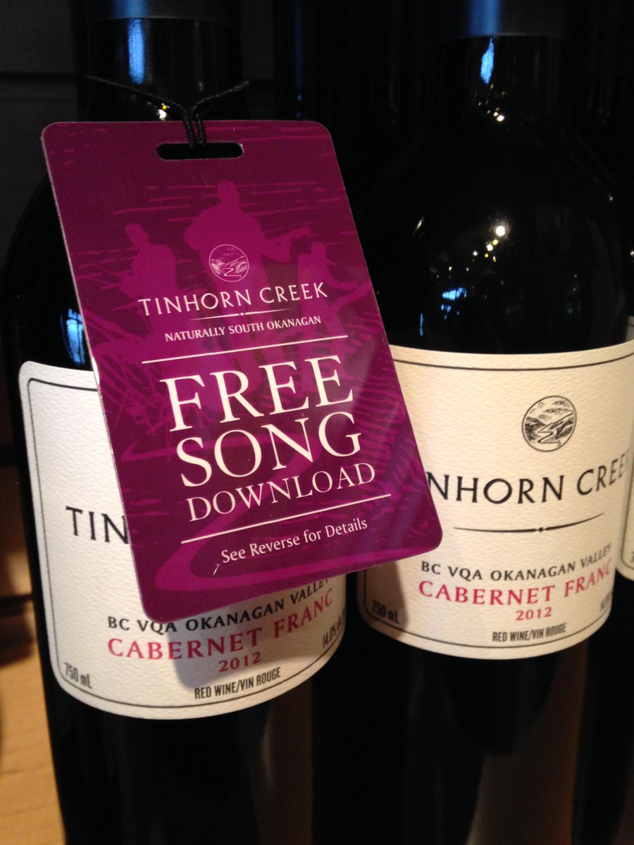 Free song from @saidthewhale @thematineemusic @TheOddsMusic or @THEBOOMBOOMS when you pick up a btl of our wine! http://t.co/sCt5aQp8GX