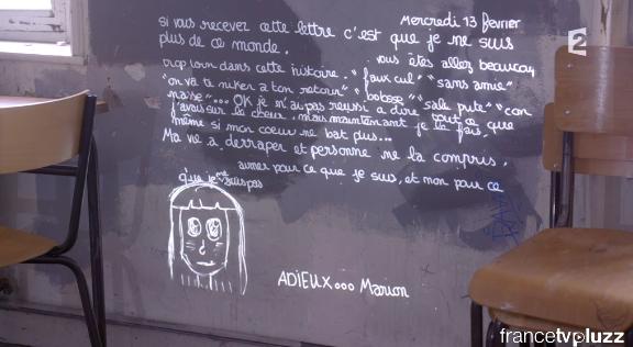 La lettre d'adieu de Marion Fraisse, horrible... #Infrarouge http://t.co/54gIzdrnnn
