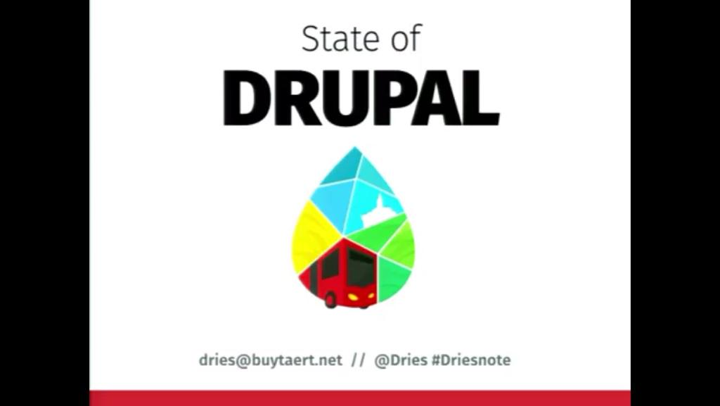 "Watch today's ""State of Drupal Keynote"" by @Dries from Colombia https://t.co/y4Gnx1X1lu [Youtube] #DrupalCon http://t.co/MTbNM1fQTl"