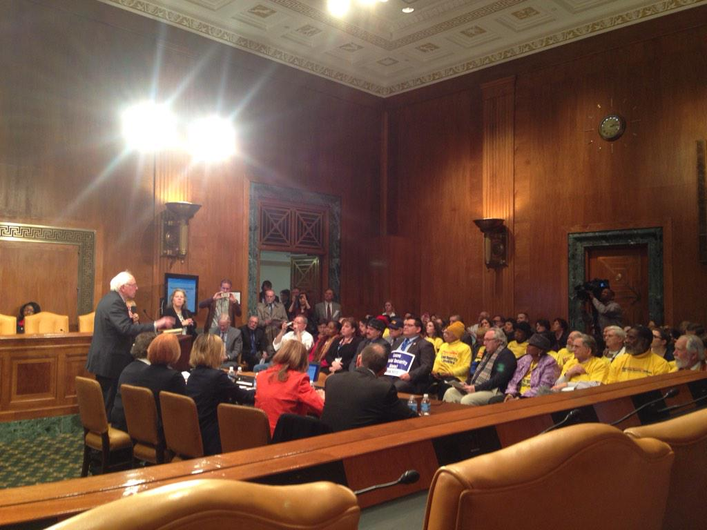 """Stop manufacturing a crisis with the #SocialSecurity disability trust fund."" -@SenSanders #p2 http://t.co/ywqD8gtot3"