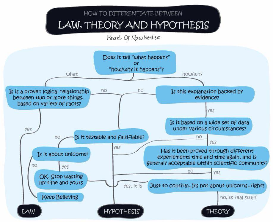 difference between theory and law