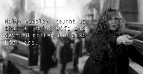 Мoлли Уизли научила нас тому, что любящая жена и преданная мать может еще и задницу надрать!😏 #HarryPotter http://t.co/5VkX5paILa