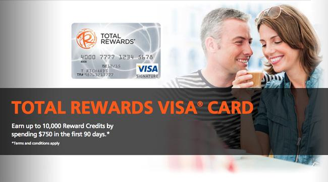 Turn everyday purchases into something more! Earn Reward Credits with a #TotalRewards Visa http://t.co/DN2y0eVvW1 http://t.co/WgREABso4M