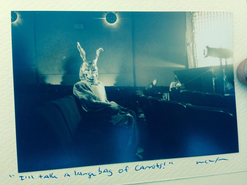 Santa Monica, CA -- August, 2000. @StevenPosterASC lighting @JimmyDuval as Frank in DONNIE DARKO. http://t.co/tCwpOwLl5X