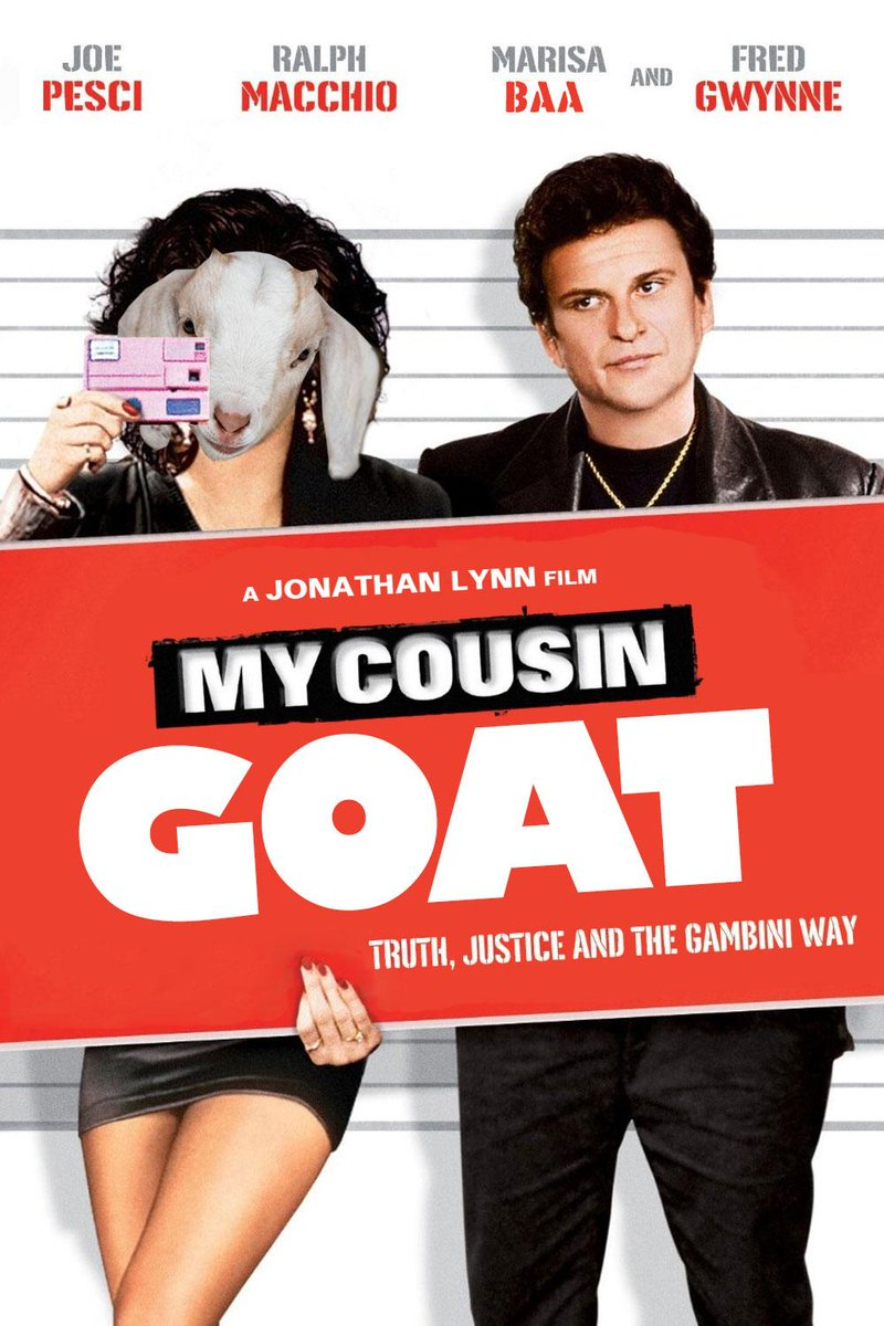 My Cousin Goat #ReplaceAMovieTitleWithGoat http://t.co/6cwTjpz4vQ