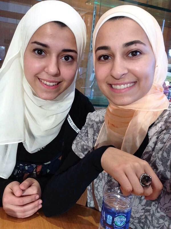 3 Muslim college kids in NC killed execution style. Deah Barakat, his wife Yusor Abu-Salha & her sis Razan Abu-Salha. http://t.co/0W5HJgXec3